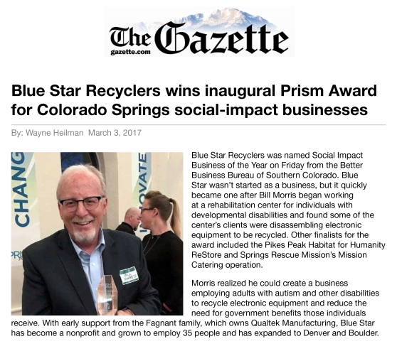 Gazette Story Prism Award 2017